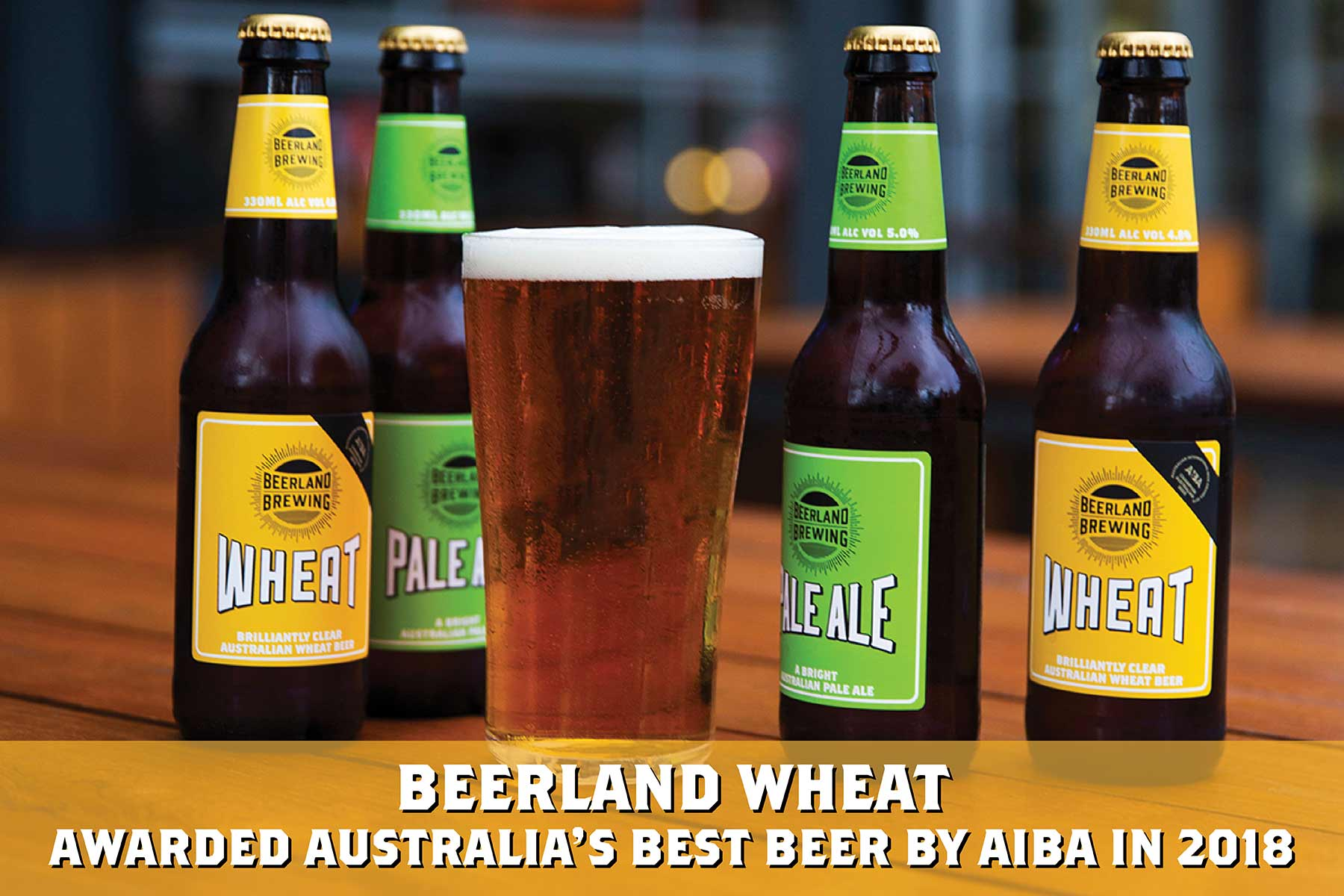 Beerland Wheat - awarded Australia's Best Beer by AIBA in 2018